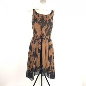 Peruvian Connection Brown Silk Fit & Flare US 6